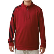 Adidas Boys 3-Stripes Pullover RED
