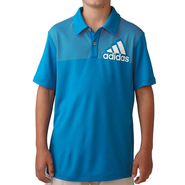 Adidas Boys Big Logo Dot Print Pol