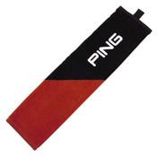 Ping Tri-Fold Golf Towel RED