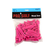 Pro Golf 2 1/8 inch Wood Tees PINK