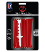 Zero Friction ZFTour Golf Tees RED
